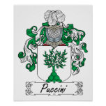 Puccini Family Crest Poster