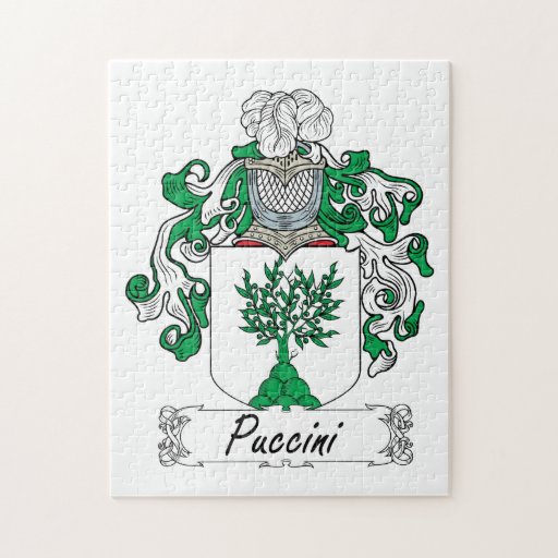 Puccini Family Crest Puzzles