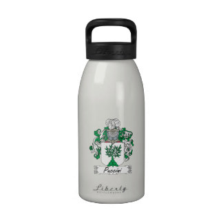 Puccini Family Crest Reusable Water Bottle