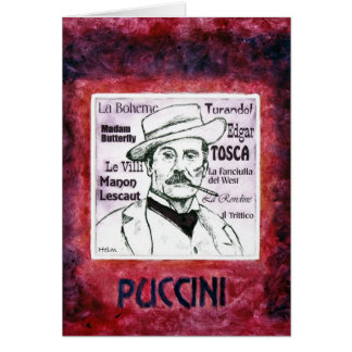 PUCCINI greetings card