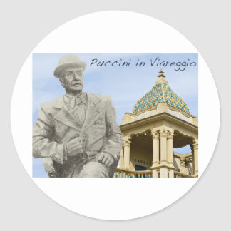 Puccini in Viareggio Color Classic Round Sticker