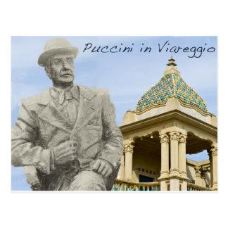 Puccini in Viareggio Color Postcard