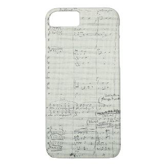 Puccini Opera La Bohème Music Manuscript Excerpt iPhone 8/7 Case