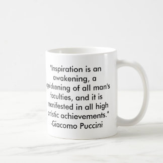 Puccini Quote Mugs