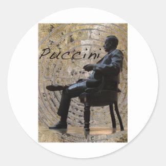 Puccini_Statue_Lucca1 Pegatina