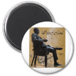 Puccini_Statue_Lucca 2 Inch Round Magnet