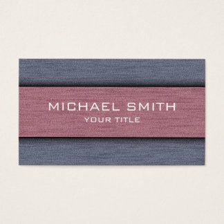 Puce and Gray Professional Modern Business Card