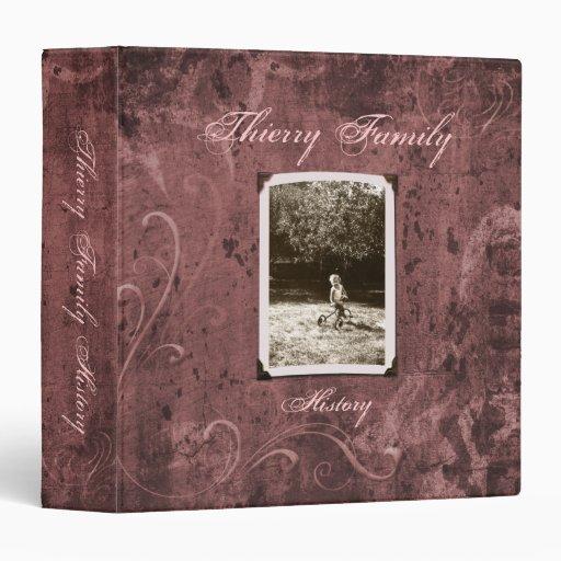 "Puce Custom Photo Family History (1.5"") Binders"
