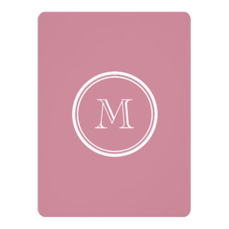Puce High End Colored Personalized 6.5x8.75 Paper Invitation Card