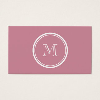 Puce High End Colored Personalized Business Card