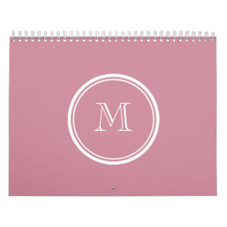 Puce High End Colored Personalized Calendar