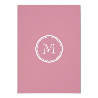 Puce High End Colored Personalized 5x7 Paper Invitation Card