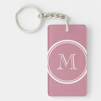 Puce High End Colored Personalized Keychain