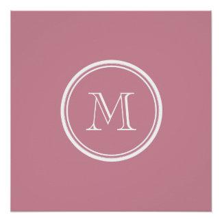 Puce High End Colored Personalized Poster