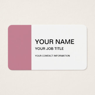 Puce High End Solid Colored Business Card