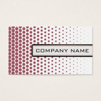 Puce Polka Dot Elegant Modern White Business Card