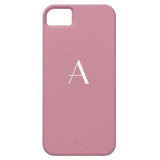 Puce Red Monogram iPhone 5 Case