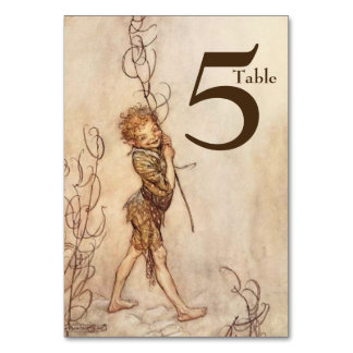 Puck A Midsummer Night's Dream Table Number Card