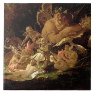 Puck and Fairies, from 'A Midsummer Night's Dream' Ceramic Tile