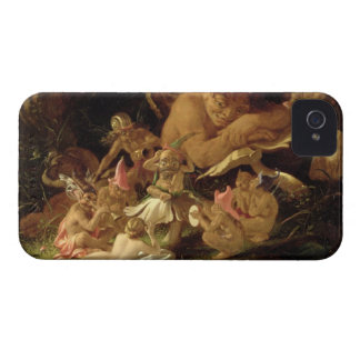 Puck and Fairies, from 'A Midsummer Night's Dream' iPhone 4 Case-Mate Case