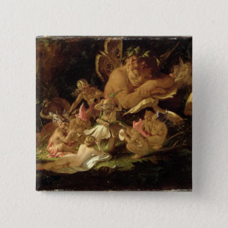 Puck and Fairies, from 'A Midsummer Night's Dream' Pinback Button