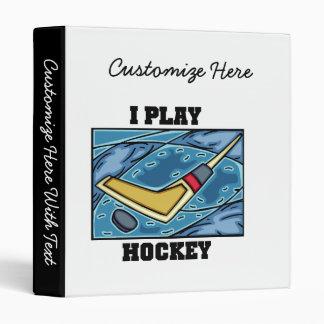 Puck and Stick I Play Hockey Tshirts and Gifts Binder