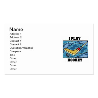 Puck and Stick I Play Hockey Tshirts and Gifts Business Card