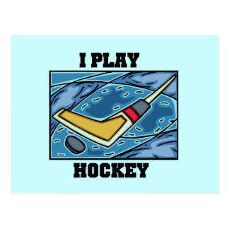 Puck and Stick I Play Hockey Tshirts and Gifts Postcard
