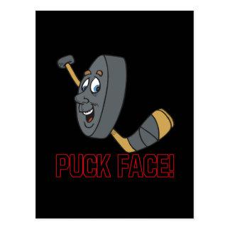 Puck Face Postcard
