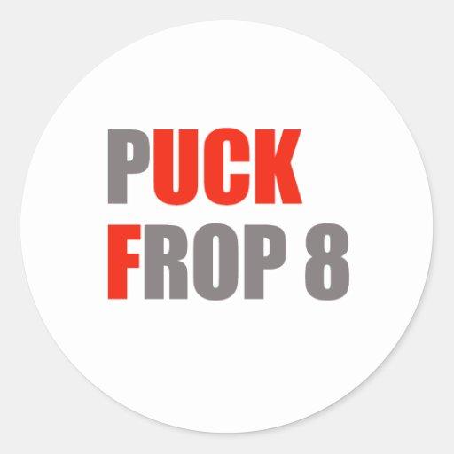 Puck Frop 8 Classic Round Sticker
