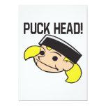 Puck Head Personalized Invitation