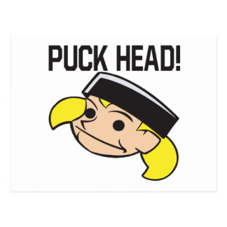 Puck Head Postcard