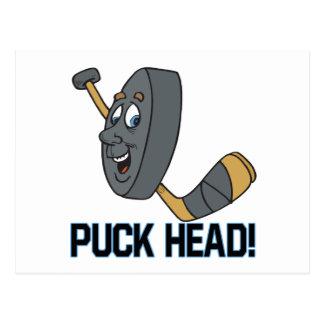 Puck Head Postcard