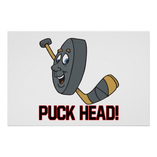 Puck Head Poster