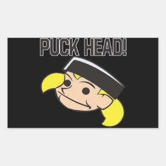 Puck Head Rectangular Sticker