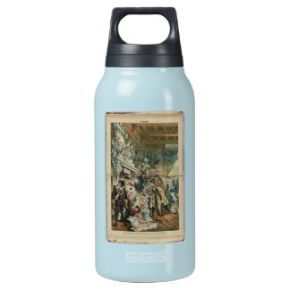 """""""Puck"""" Illustration Insulated Water Bottle"""