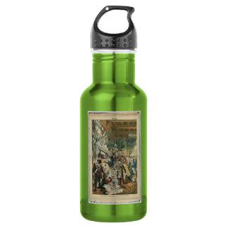 """Puck"" Illustration Stainless Steel Water Bottle"
