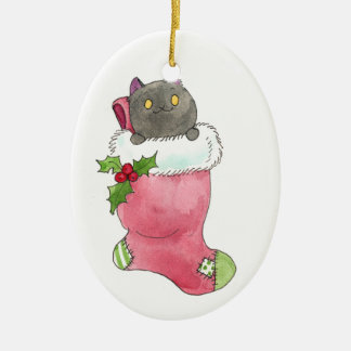 Puck in a Stocking ornament