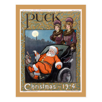 Puck Magazine Cover Christmas 1904 Postcard