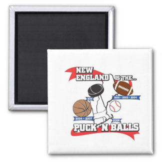 Puck 'N Balls 2 Inch Square Magnet