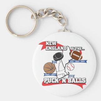 Puck 'N Balls Basic Round Button Keychain