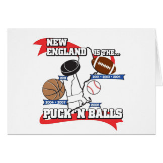 Puck 'N Balls Greeting Card