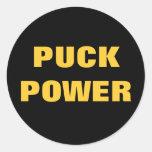 PUCK POWER CLASSIC ROUND STICKER
