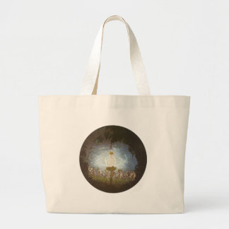 Puck Print by Richard Dadd Large Tote Bag