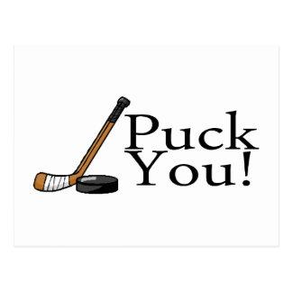 Puck You (Hockey) Postcard