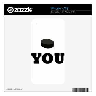 puck you iPhone 4 skins