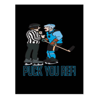 Puck You Ref Postcard