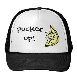 Pucker Lemon Trucker Hat