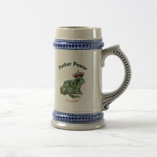 Pucker Power Frog Toad Kiss Beer Stein