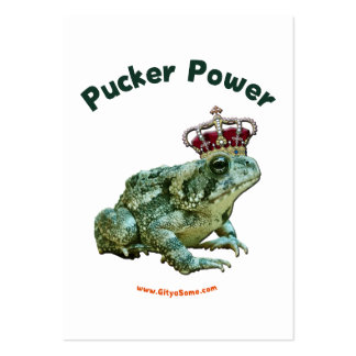 Pucker Power Frog Toad Kiss Large Business Cards (Pack Of 100)